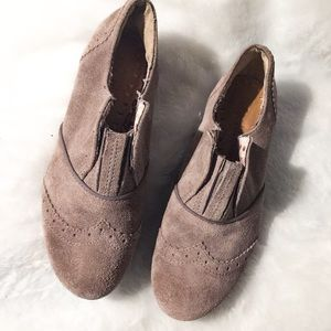 Sam Edelman Taupe Suede Loafers SZ 7